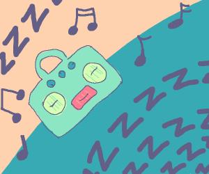 Lullabying a radio to sleep