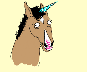 Bojack Horseman as a unicorn