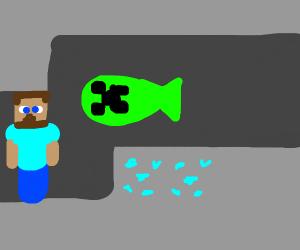 fish creeper back in the mine