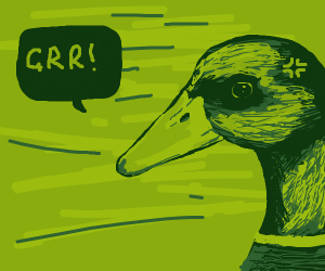 Duck is angry