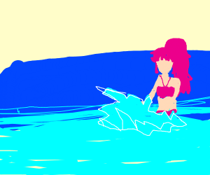 Draw the beach episode from an anime