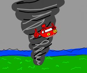 Rocket from Little Einsteins In Tornado