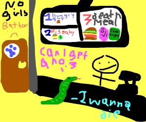 snake orders food
