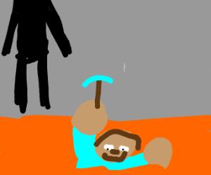 Steve steps in lava