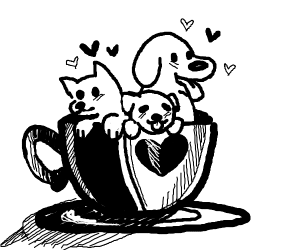 a cup of dog