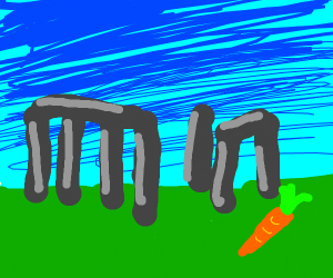 Carrot near the Stonehenge