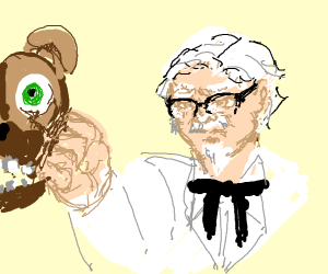 colonel sanders punches animatronic