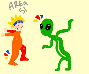 Gamer finds alien in area 51