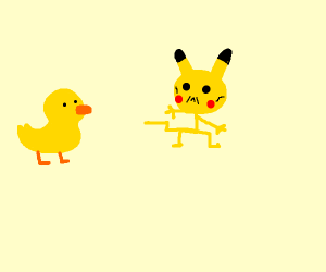 duckling watches boney pikachu