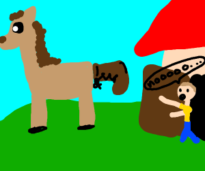 Donkey Mail Carrier - Drawception
