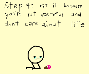 Step 3: Spit out the cupcake!