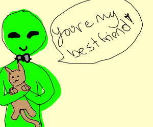 cat and alien bes friends