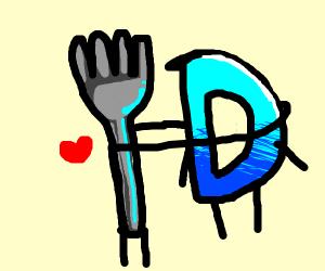 A fork loves drawception