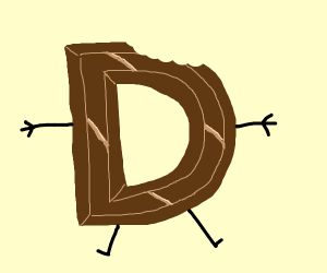 Drawception D but chocolate