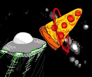 Heading towards the pizza planet