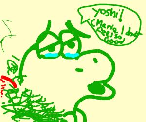 Yoshi doesn't look too good
