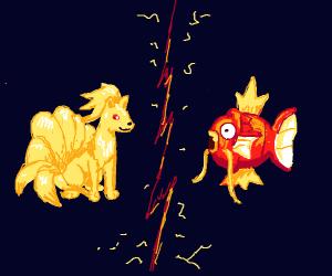 Ninetails VS Magikarp