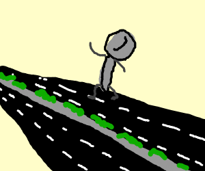 A Spoon crossing the Highway
