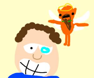 Jon Arbuckle as sans with god garf