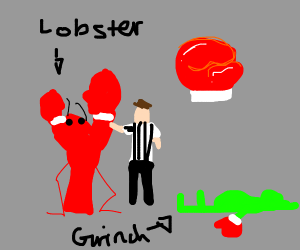 Lobster beats The Grinch in boxing match