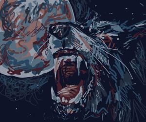 Wolf monster howls