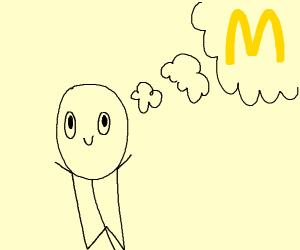 thinking about mcdonalds