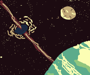 blackhole moving towards the earth