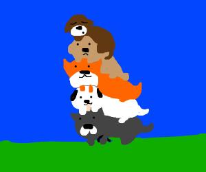 Dog on a dog on a dog on a dog on a dog on a