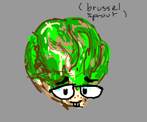 nerdy brussel sprout