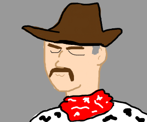 cowboy dramatically stares into your eyes