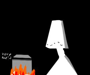 man cooking a little man