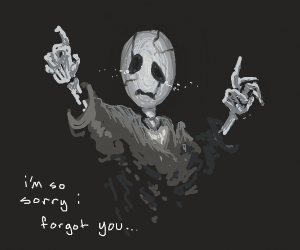 gaster fading into the void (sad)