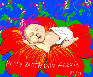 Happy birthday Alexis PIO