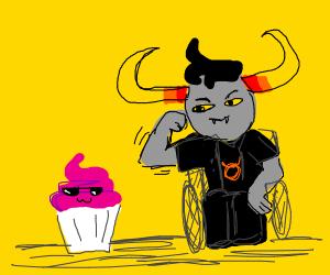 Troll flexes on a cool supcake