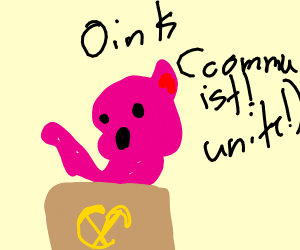 communist pig(actual pig not politician)