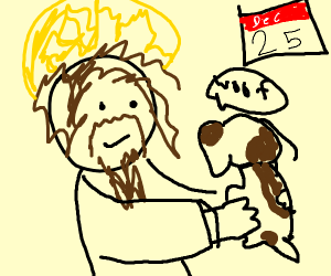 jesuses birthday getting a dog