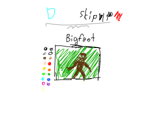 Bigfoot in a Drawception panel