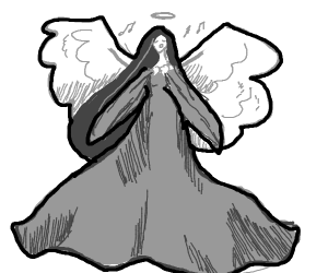 Singing silver angel