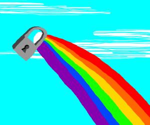rainbow lock