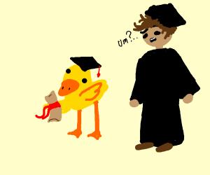 duckling finally graduates