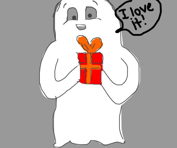 ghost gets a present