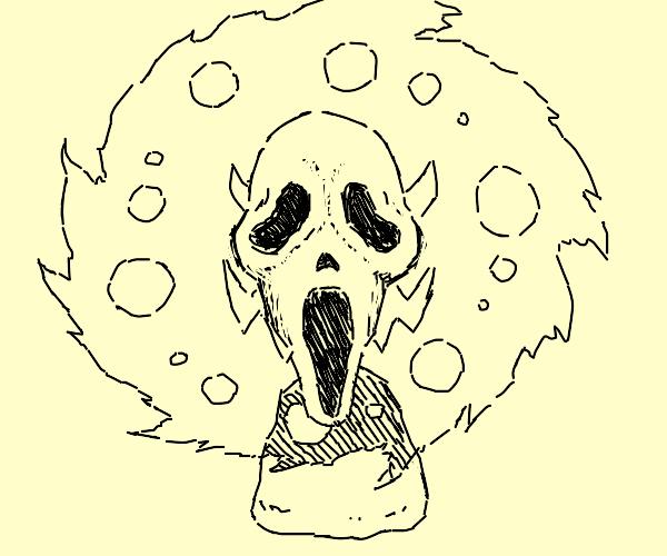 spiritomb (pokemon) with a scream mask