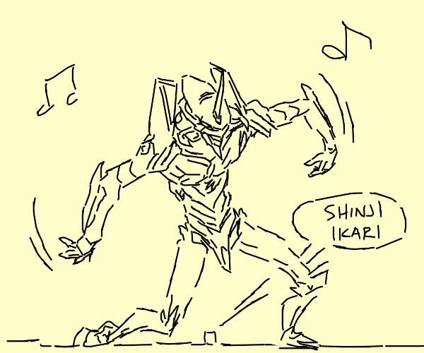 EVA unit 01 fortnite dances on shinji's grave