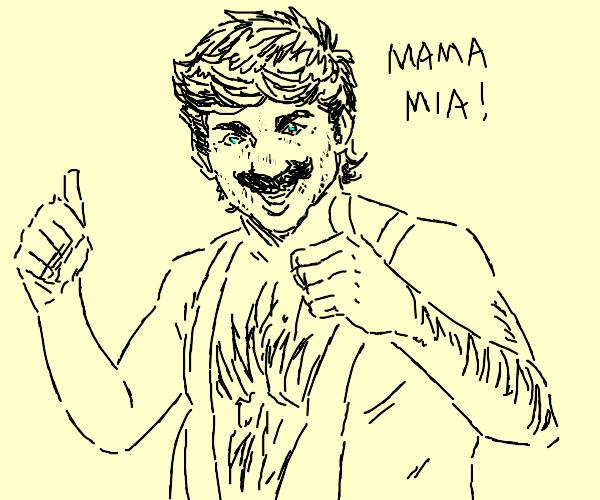 Mario in Borat mankini