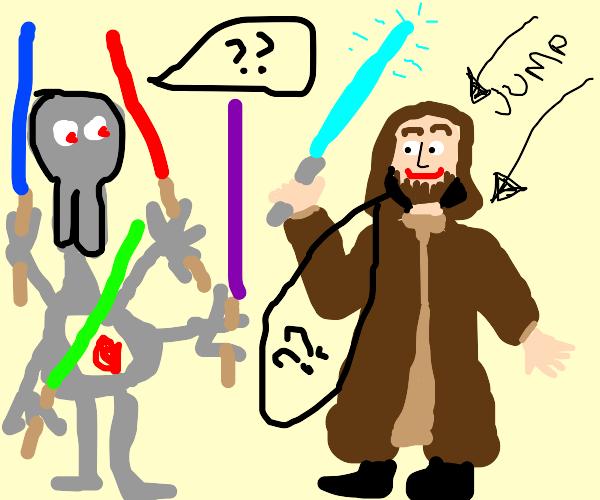 """Hello there."" ""General Kenobi..."""