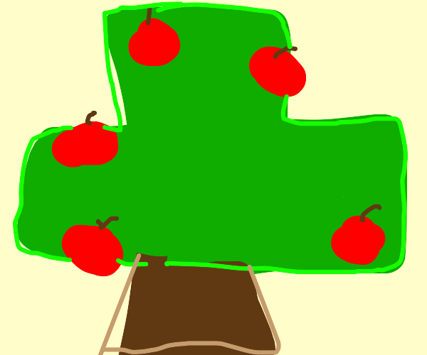 minecraft apple tree