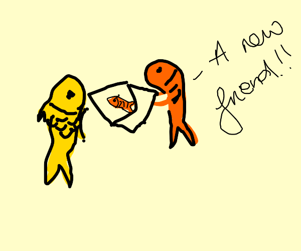fishes in a letter get a new friend