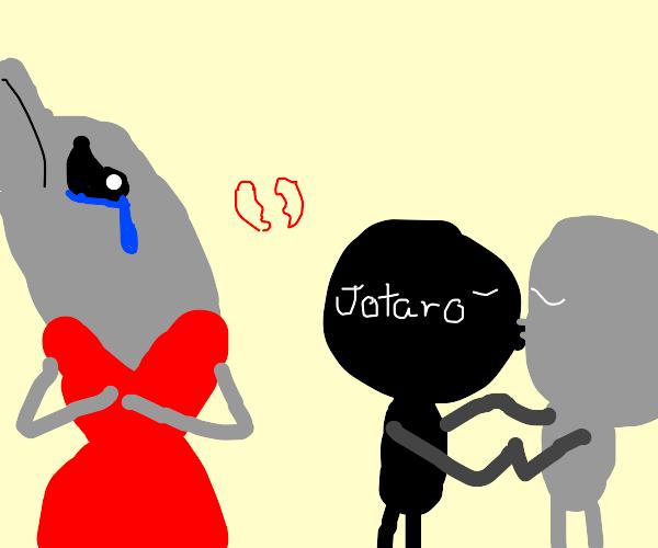Dolphin heart broken bc Jotaro cheated on it