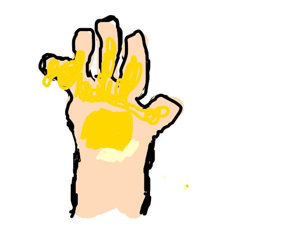 Buttery hand