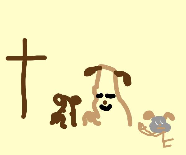 Dogs Enter Church